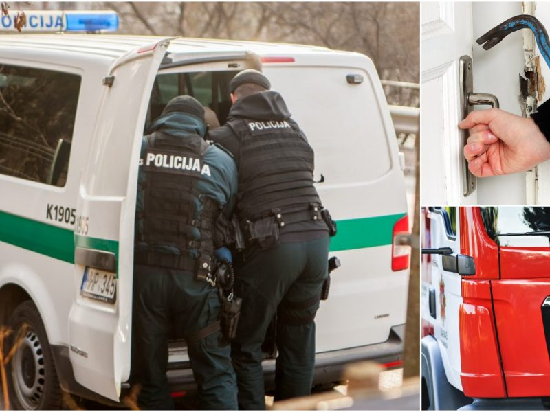 Siautėjusio vyro sulaikyme dalyvavo ir policija, ir ugniagesiai