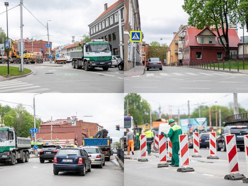 Kauno senamiestyje vairuotojus pasitinka pakeista eismo tvarka