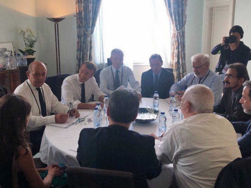 Irano diplomatijos vadovas netikėtai apsilankė G-7 viršūnių susitikime