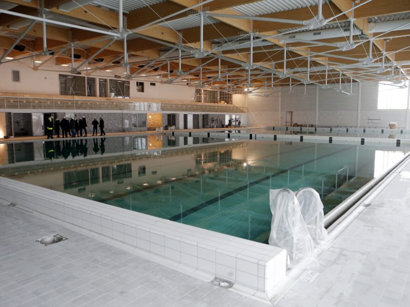 Naujam baseinui Klaipėdoje – baigiamieji štrichai