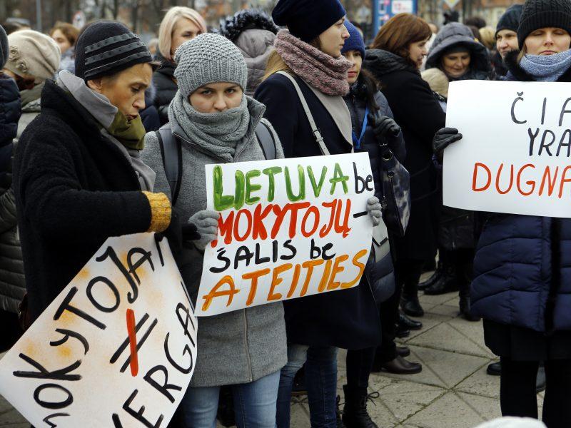 """Tarp mokytojų streiką paskelbusios profsąjungos darbuotojų – """"valstiečių"""