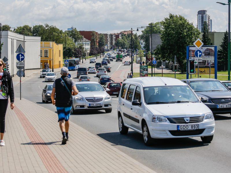 Dėl remonto ribos eismą Klaipėdoje