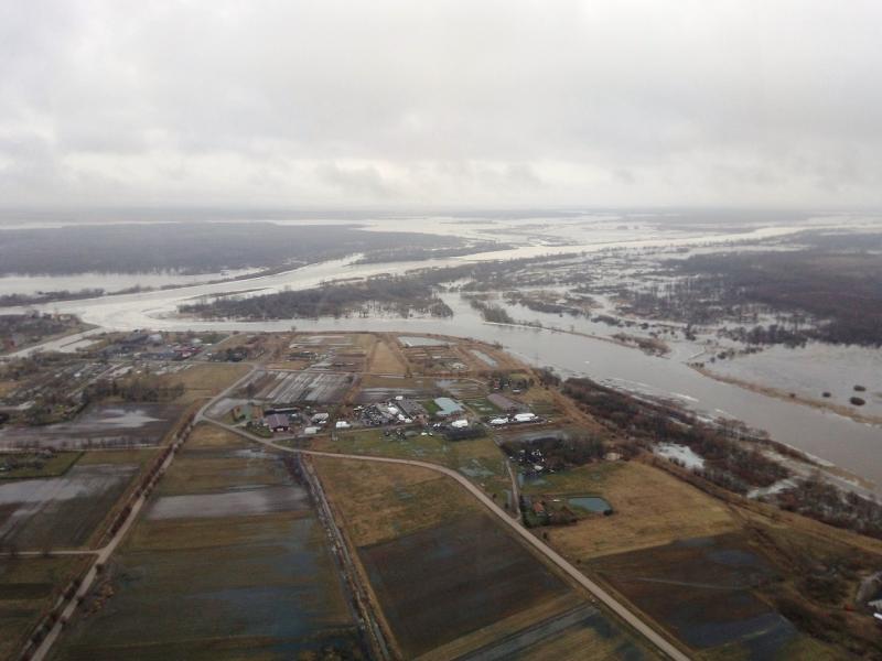 Nemuno žemupyje slūgsta vanduo, kelias į Rusnę – jau išvažiuojamas