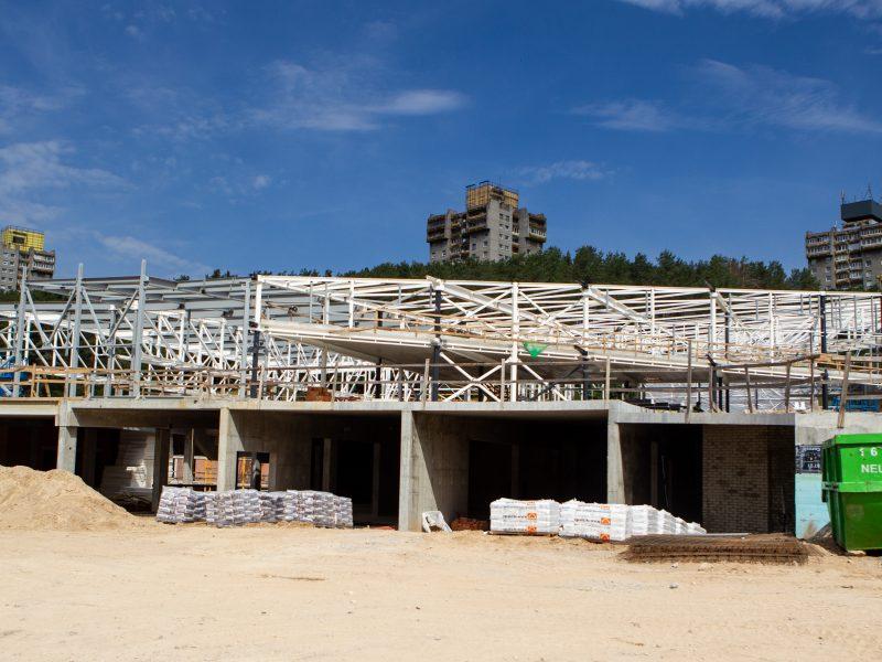 Lazdynų baseino statybų aikštelė
