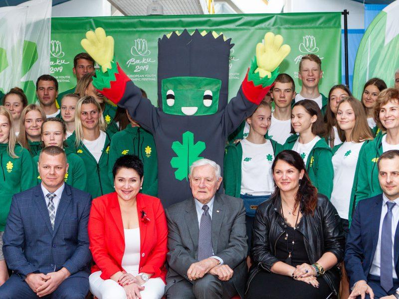 Lietuvos delegacijos išlydėtuvės į Europos jaunimo olimpinį festivalį