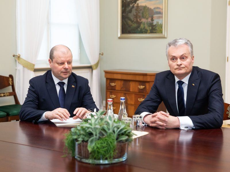 Prezidentas susitiko su S. Skverneliu