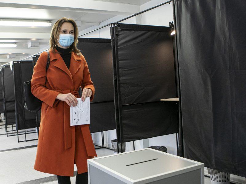 V. Čmilytė-Nielsen balsavo antrajame Seimo rinkimų ture
