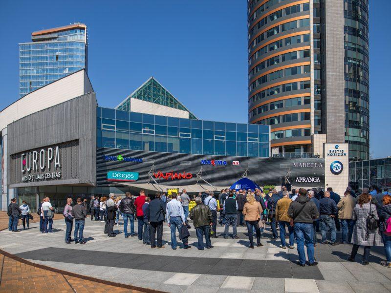 Vilniaus viešojo transporto darbuotojų mitingas
