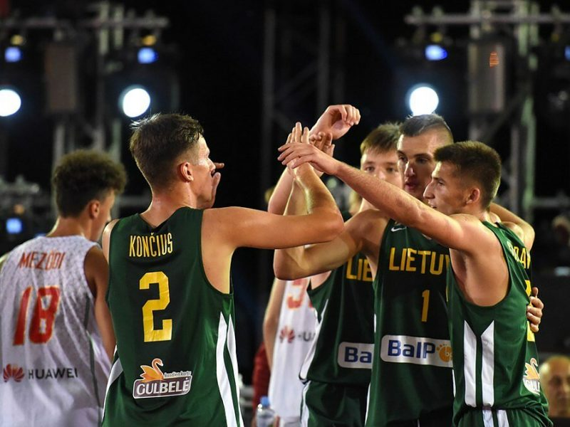 Lietuvos jaunių 3x3 krepšininkai Europos pirmenybėse iškovojo auksą