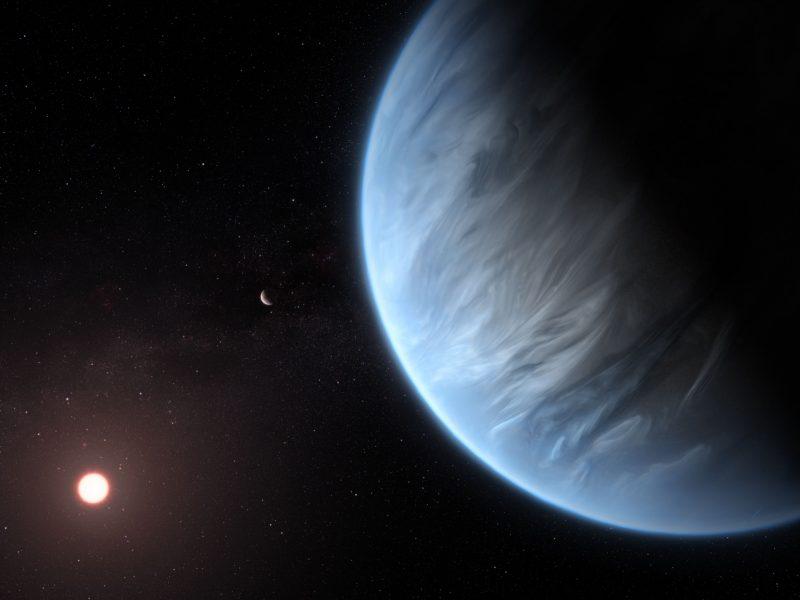 Gyventi tinkamos egzoplanetos atmosferoje pirmąkart aptikta vandens