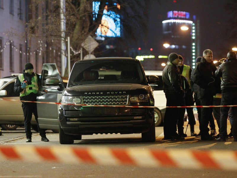 Kijevo centre nušautas trimetis vietos politiko sūnus