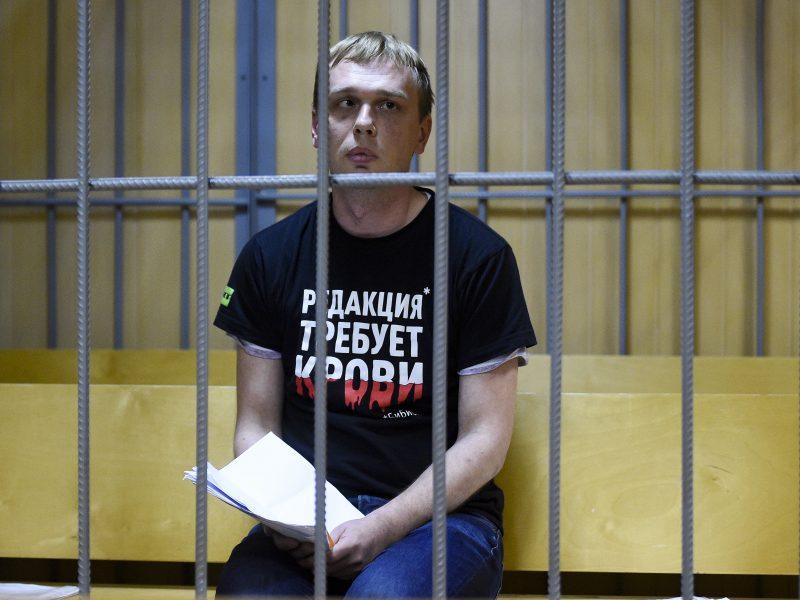 Rusijos policija atšaukė kaltinimus žurnalistui I. Golunovui