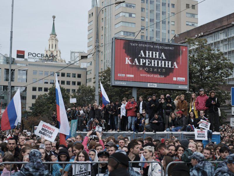 Maskva davė leidimą rengti naują mitingą