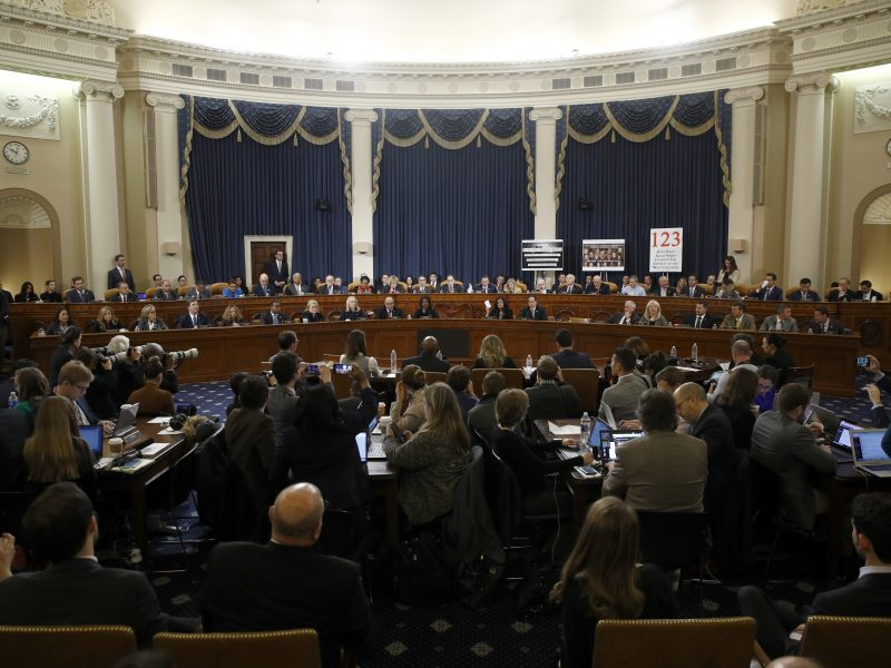 JAV Atstovų Rūmų komitetas nubalsavo už D. Trumpo apkaltos straipsnius