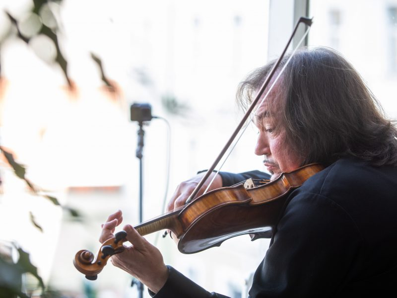 Smuikininko S. Krylovo muzikinė akcija