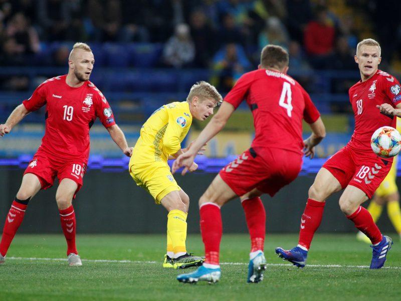 Europos futbolo čempionato atranka: Ukraina – Lietuva 2:0