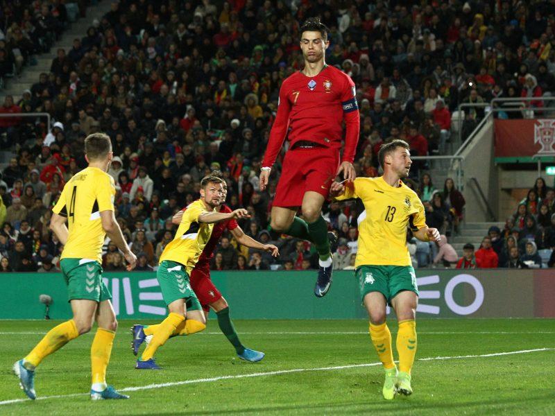 Europos futbolo čempionato atranka: Portugalija – Lietuva 6:0
