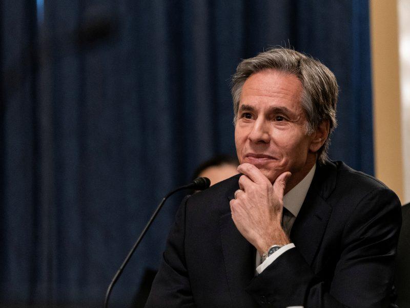 JAV Senatas patvirtino A. Blinkeną valstybės sekretoriumi