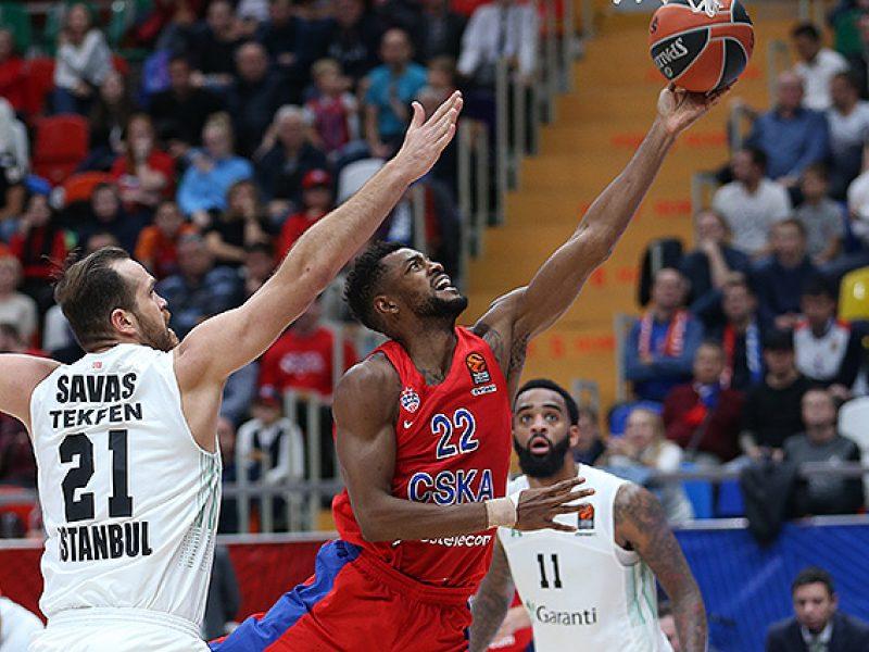 CSKA krepšininkai Eurolygoje iškovojo trečiąją pergalę