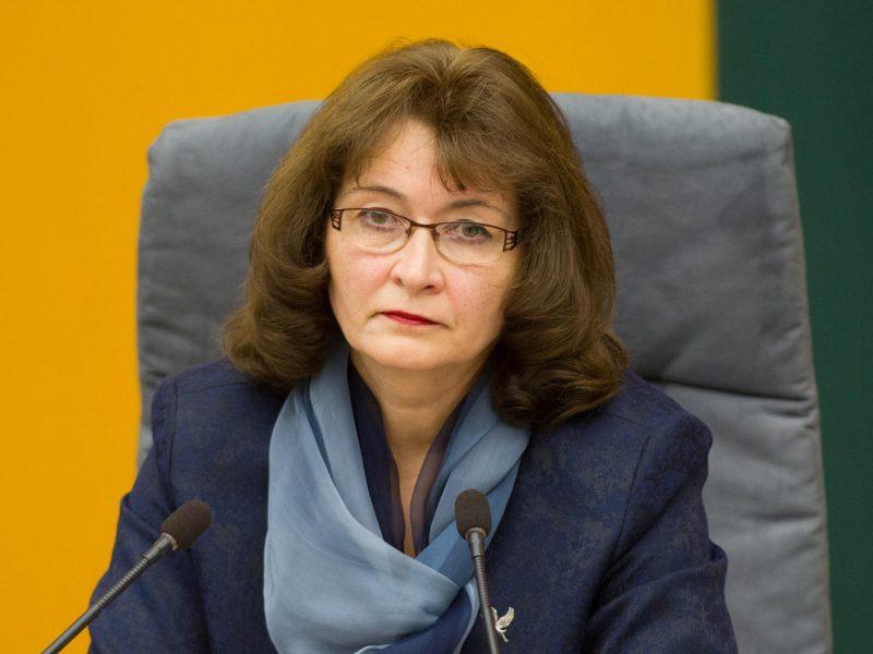 Seimo pirmoji vicepirmininkė: parlamento darbas grįžta į įprastas vėžes