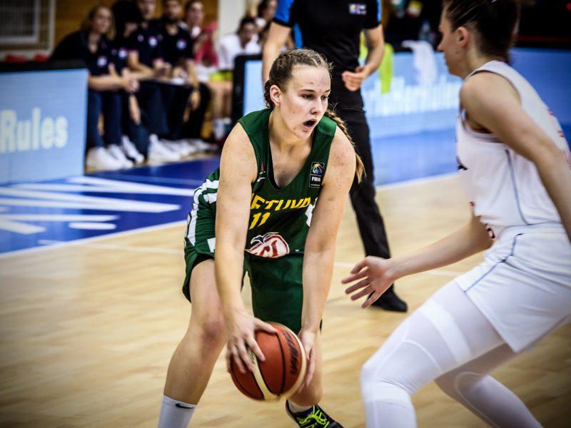 Lietuvos 20-metės krepšininkės Europos čempionate žais dėl 9-16 vietų