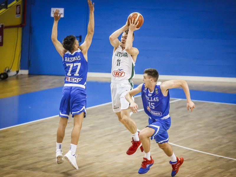 Lietuvos 16-mečiai krepšininkai nepateko į Europos čempionato ketvirtfinalį
