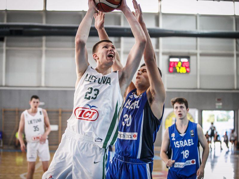 Lietuvos 16-mečiai krepšininkai Europos čempionate kovos dėl devintosios vietos