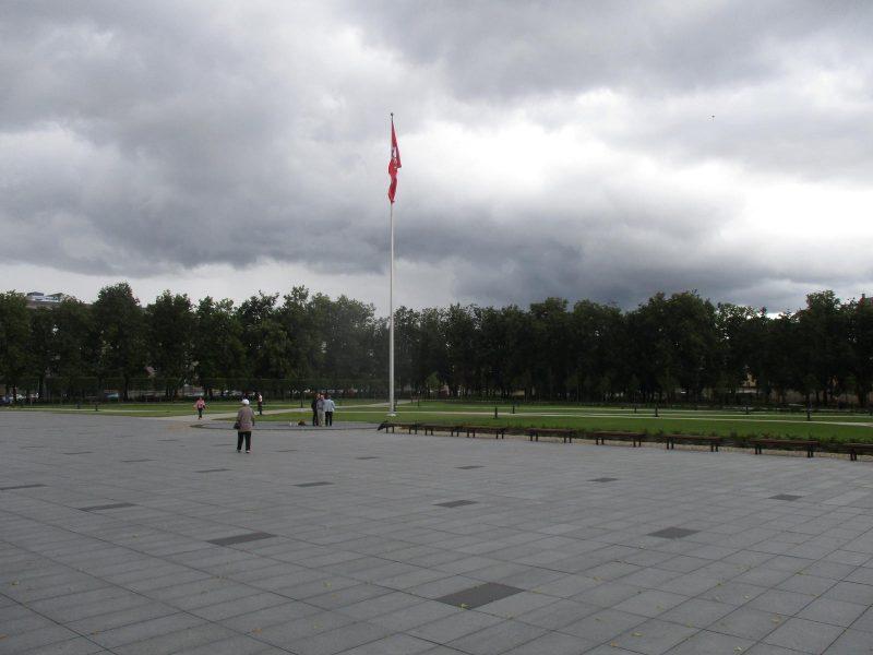 Protestuotojai sostinės Lukiškių aikštėje reikalauja pastatyti Vytį