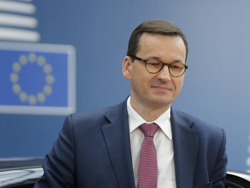 Lenkijos premjeras gina sprendimą vetuoti ES biudžetą