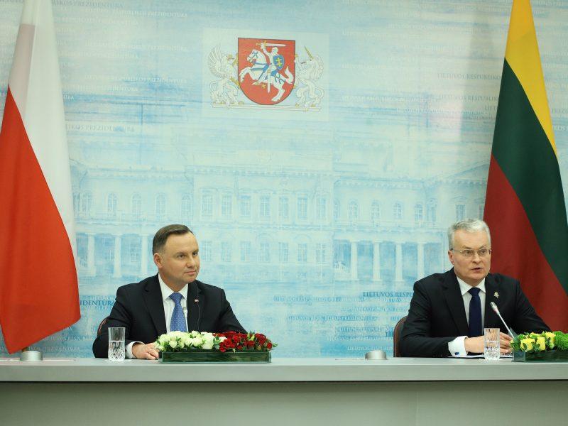 G. Nausėda susitiko su Lenkijos prezidentu A. Duda