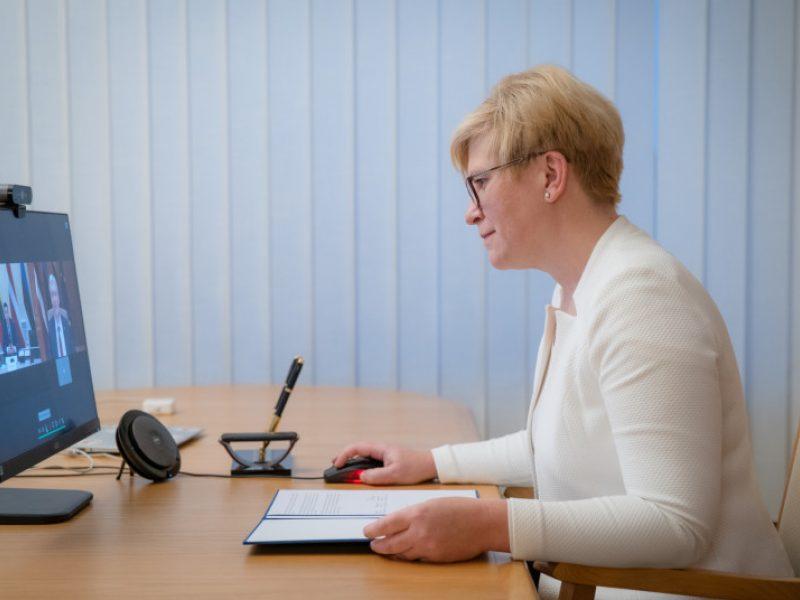 Premjerė: pandemijos fone Baltijos šalių bendradarbiavimas tampa dar svarbesnis
