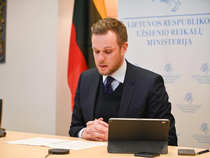 G. Landsbergis: ES sutarimas dėl sankcijų Kremliaus režimui – A. Navalną suėmus ilgam