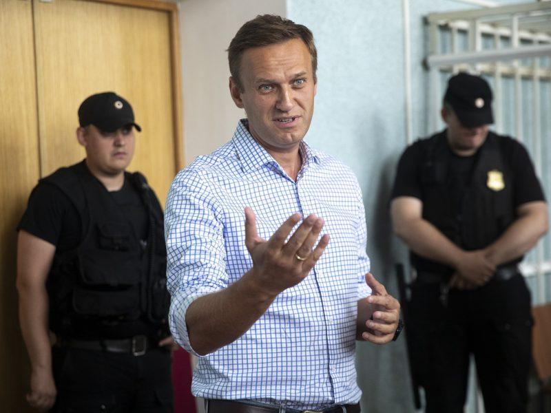 Rusijos opozicijos lyderiui A. Navalnui skirta 10 parų arešto