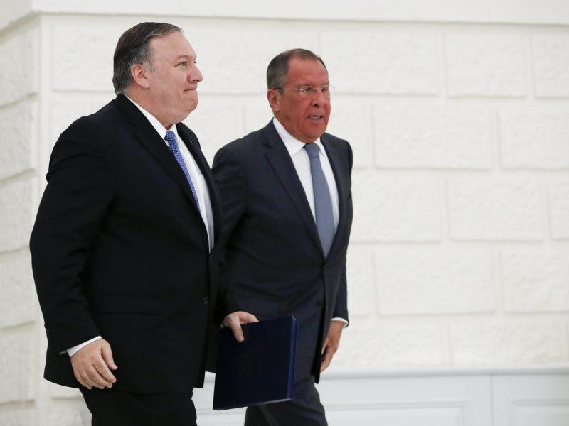 M. Pompeo: JAV ir Rusijos derybose dėl ginklų kontrolės turi dalyvauti Kinija