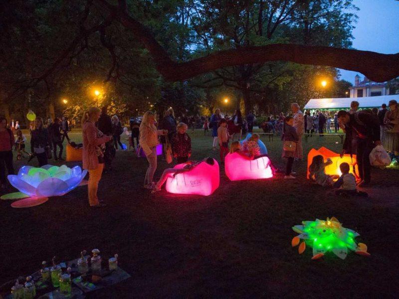Kauno botanikos sodas sukūrė stebuklingą nakties pievą