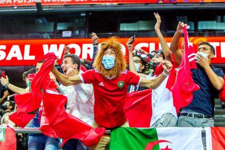 Marokas pirmą kartą pateko pasaulio salės futbolo čempionato atkrintamąsias: padėka skriejo karaliui