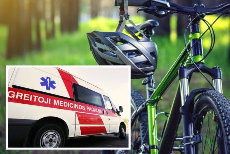 Nelaimė Visagine: automobilis partrenkė dviračiu važiavusį vaiką