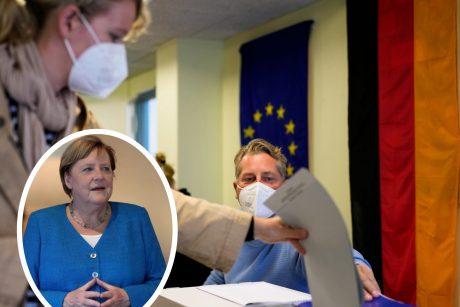 Vokietijoje prasidėjo visuotiniai rinkimai, užbaigsiantys A. Merkel erą