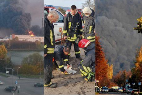 Alytuje uždrausta dirbti šalia gaisravietės esančioms įmonėms