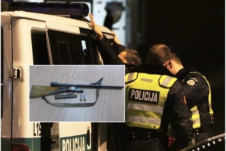 Drama Telšiuose: girtas vyras grasino panaudoti šautuvą ir nužudyti tris žmones