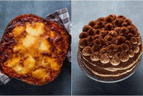 Itališkai vakarienei – baklažanai su parmezanu ir tiramisu desertas (receptai)