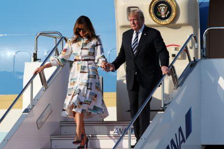 D. Trumpas pradeda oficialų vizitą Japonijoje