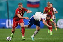 Europos futbolo čempionatas: belgai sudorojo rusus