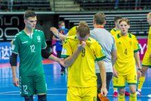 Salės futbolo čempionate lietuviams pirmasis blynas prisvilo, bet suteikė patirties