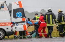 Avarija Skuodo rajone: žuvo žmogus, dar trys sužaloti <span style=color:red;>(atnaujinta)</span>