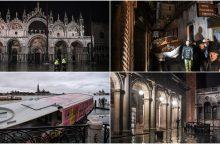 Veneciją užliejo aukščiausias per daugiau kaip pusšimtį metų potvynis <span style=color:red;>(papildyta)</span>