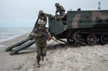 Nemirsetos paplūdimyje vyko tarptautinės karių pratybos <span style=color:red;>(atnaujinta)</span>