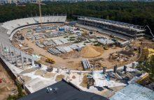 Pamatykite, kaip iš vidaus atrodo S. Dariaus ir S. Girėno stadiono statybų aikštelė <span style=color:red;>(vaizdo įrašas)</span>
