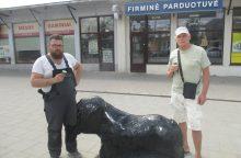 Žaliakalnyje pastatyta skulptūra legendinei Kauno senbernarei Bitei <span style=color:red;>(pamatykite)</span>